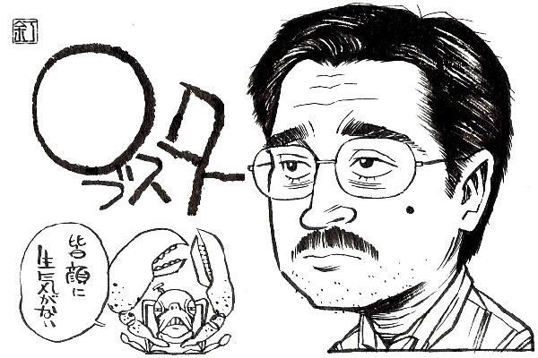 映画『ロブスター』コリン・フォレルのイラスト(似顔絵)