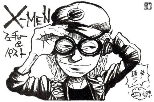 映画『X-MEN:フューチャー&パスト』クイックシルバーのイラスト