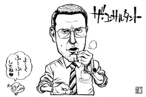 映画『ザ・コンサルタント』ベン・アフレックのイラスト(似顔絵)