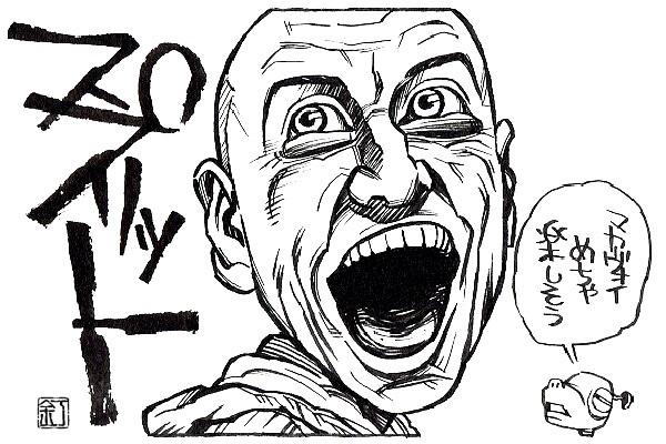 映画『スプリット』ジェームズ・マカヴォイのイラスト(似顔絵)