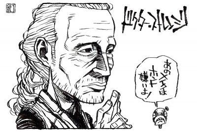 映画『ドクター・ストレンジ』マッツ・ミケルセンのイラスト(似顔絵)