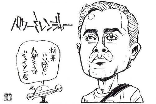 映画『パワーレンジャー』デイカー・モンゴメリーのイラスト(似顔絵)