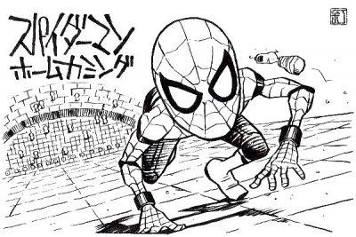 映画『スパイダーマン:ホームカミング』のイラスト