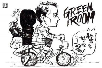 映画『グリーンルーム』アントン・イェルチンのイラスト(似顔絵)
