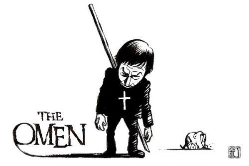 映画『オーメン』(1976)のイラスト