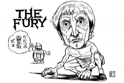 映画『フューリー』(1978)カーク・ダグラスのイラスト(似顔絵)