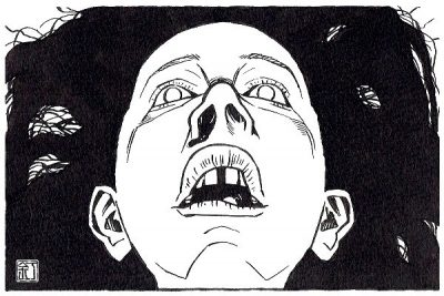 映画『ジェーン・ドウの解剖』オルウェン・ケリーのイラスト(似顔絵)