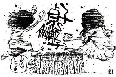 映画『貞子vs伽椰子』のイラスト